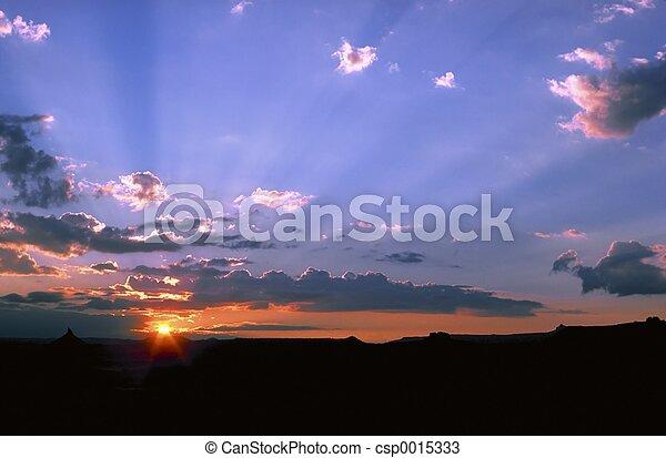 Desert Sunset - csp0015333
