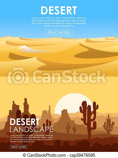 Desert vector set - csp39476595