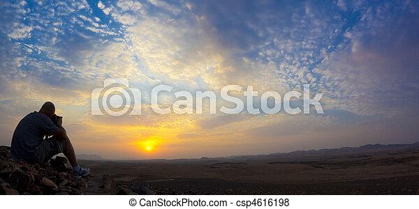 deserto, amanhecer - csp4616198