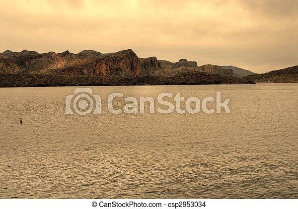 deserto, lago - csp2953034
