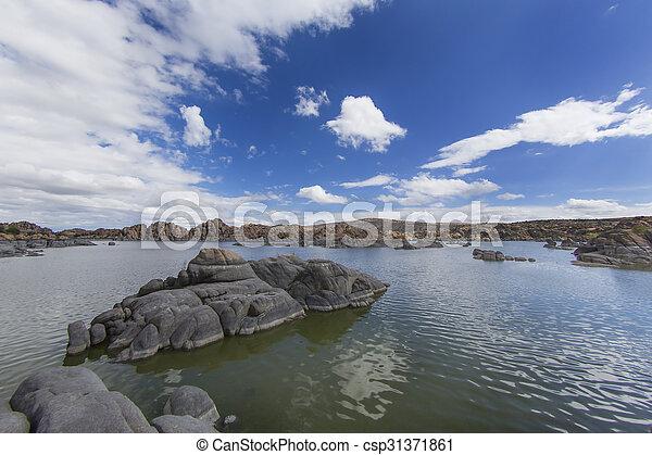 deserto, lago - csp31371861
