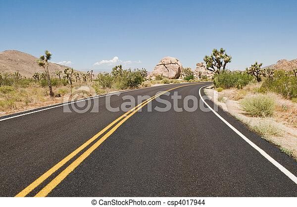 deserto, rodovia - csp4017944
