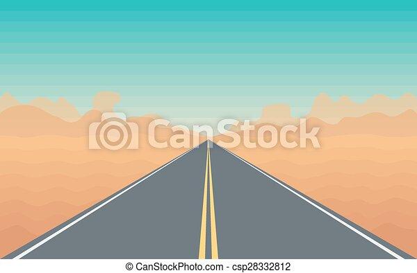deserto, strada - csp28332812