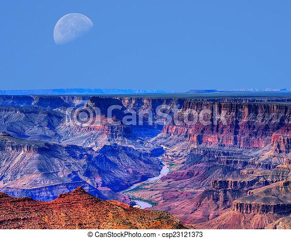 desfiladeiro, grandioso, lua - csp23121373