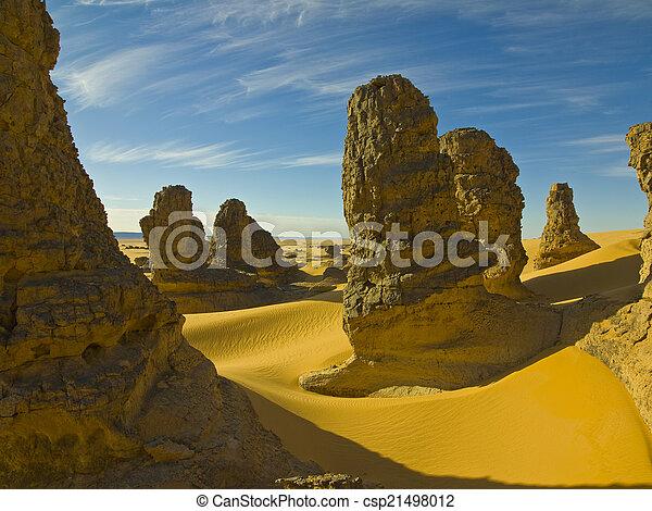 El desierto del Sahara - csp21498012