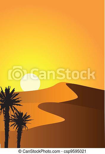 Un fondo del desierto - csp9595021