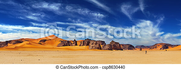 desierto de Sahara, Algeria - csp8630440
