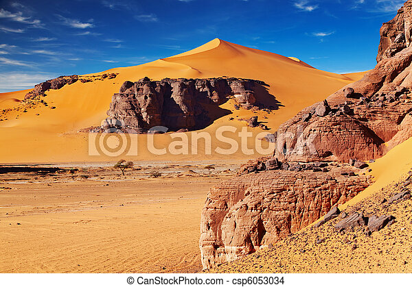 desierto de Sahara, Algeria - csp6053034