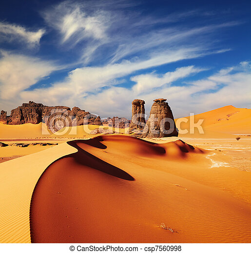 desierto de Sahara, Algeria - csp7560998