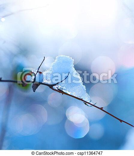 design., 芸術, 雪, 冬 - csp11364747