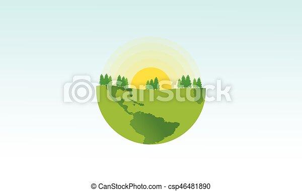 Line Art Earth : Design art earth day theme vector illustration eps vectors