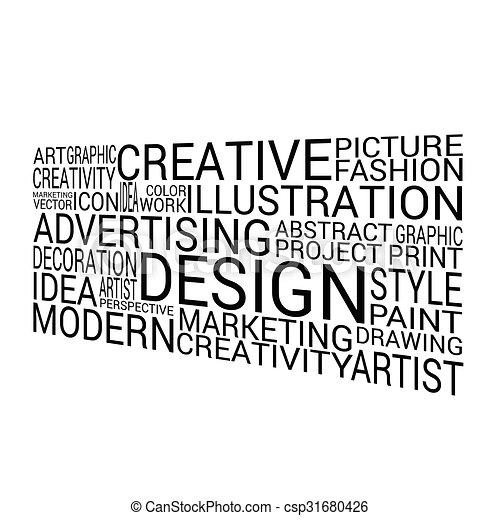 design background word on white vector - csp31680426