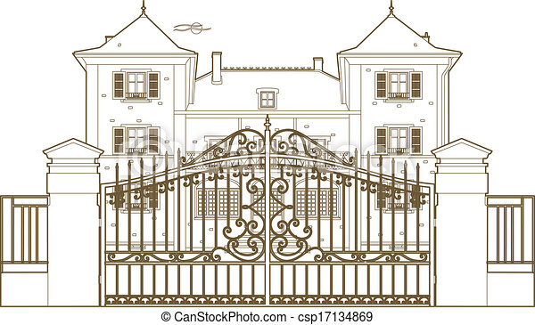 Design behind the castle gate - csp17134869