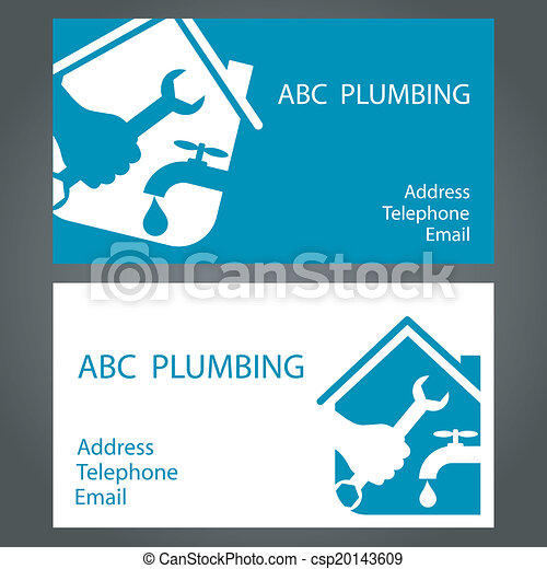 Design business cards for plumbing and working vector clipart design business cards for plumbing csp20143609 colourmoves Images