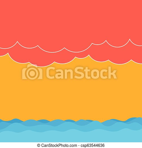 Design business concept Business ad for website promotion banners empty social media ad Halftone Wave and Fluffy Heavy Cloud Seascape Scenic with Blank Text Space - csp63544636