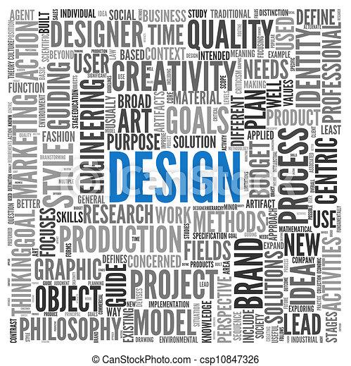 Design concept in tag cloud - csp10847326