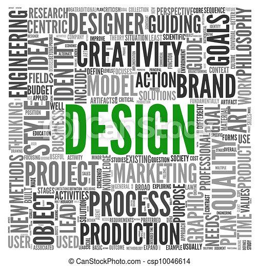 Design concept in tag cloud - csp10046614
