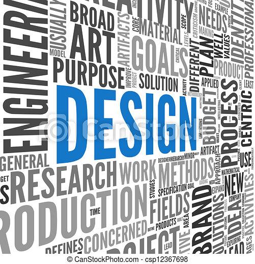 Design concept in tag cloud - csp12367698