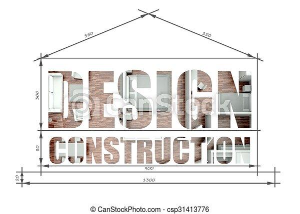 Design construction in modern house blueprint design construction design construction in modern house blueprint csp31413776 malvernweather Gallery