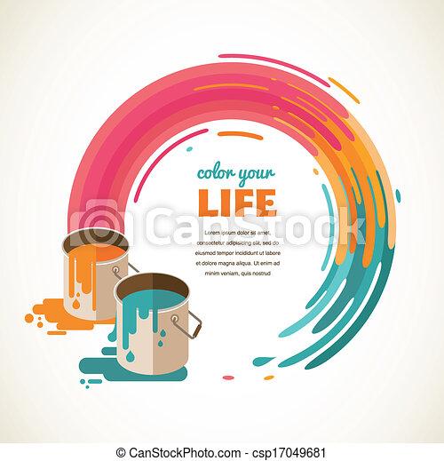 Design, creative, idea and color concept - csp17049681