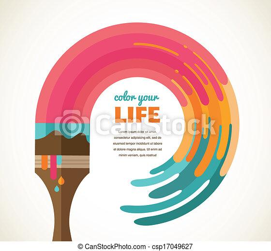 Design, creative, idea and color concept - csp17049627