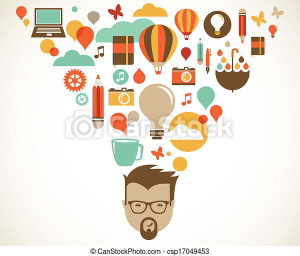 Design, creative, idea and innovation concept - csp17049453