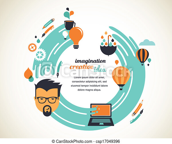 Design, creative, idea and innovation concept - csp17049396