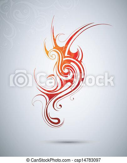 Design element. Fire flame - csp14783097