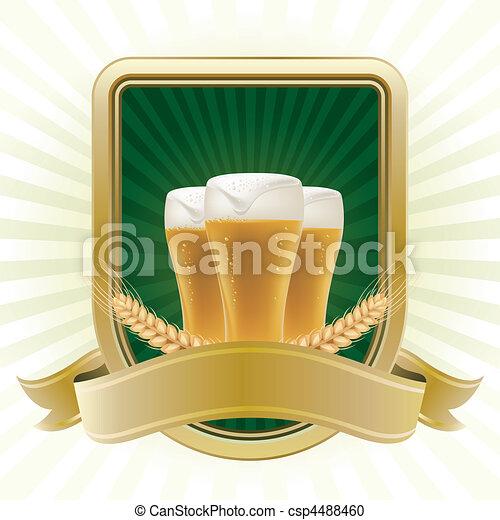 design element for beer - csp4488460