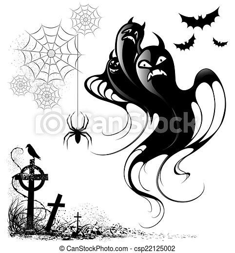 design elements for halloween - csp22125002