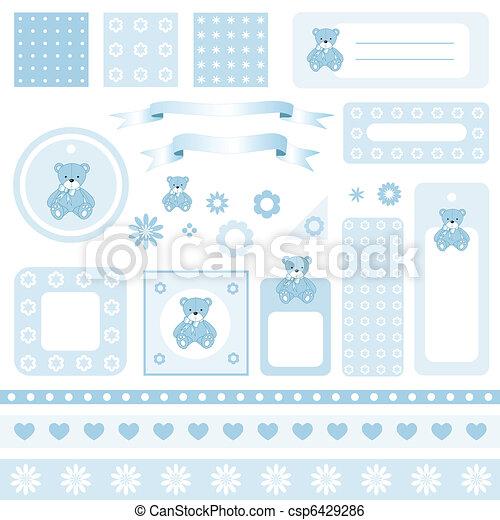 Design elements for scrapbook - csp6429286