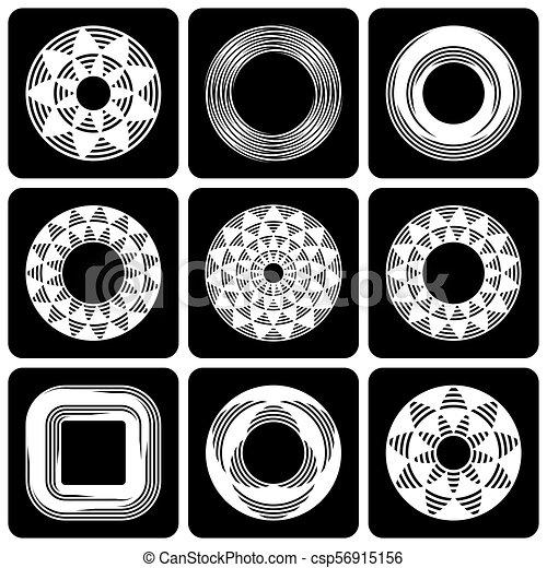 design elements set abstract circle patterns design clipart