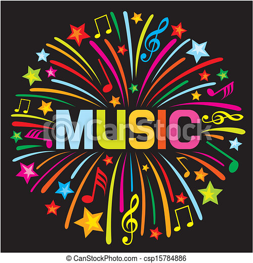 design), firework, musica, (music - csp15784886