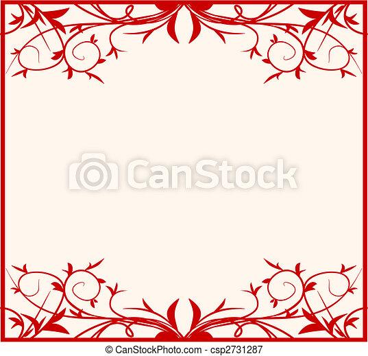 Design floral frame - csp2731287