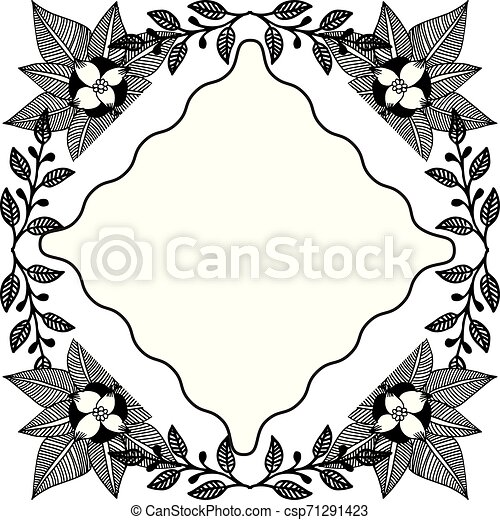 Design Floral With Silhouette Backdrop On A White Border For Greeting Card Invitation Card Vector