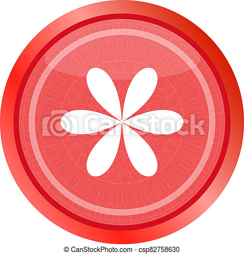 Design flower logo element. web icon isolated on white - csp82758630