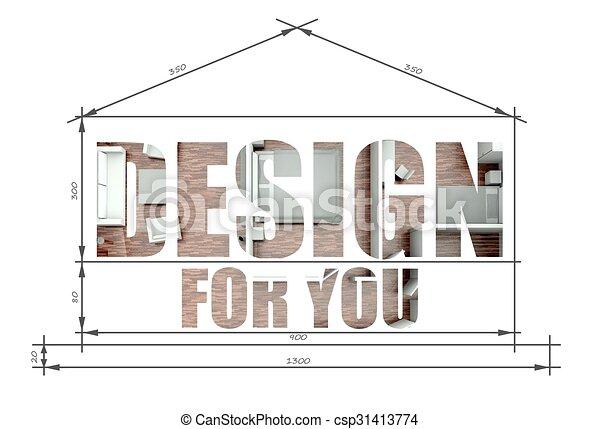 Design for you slogan in modern house blueprint design for you design for you slogan in modern house blueprint csp31413774 malvernweather Gallery