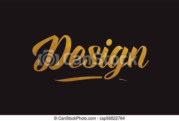 Design gold word text illustration typography - csp56822764