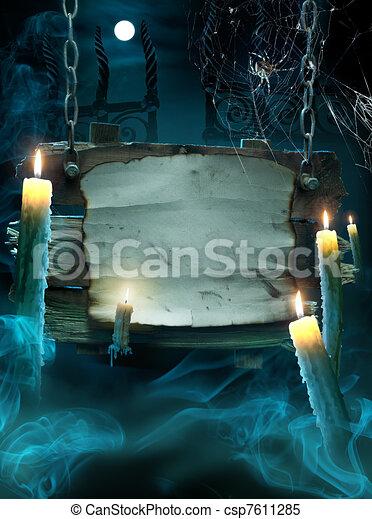design, halloween, bakgrund, parti - csp7611285