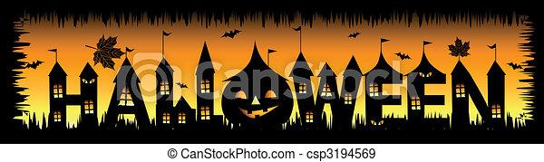 design, halloween, din, bakgrund, parti - csp3194569