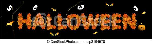design, halloween, din, bakgrund, parti - csp3194570