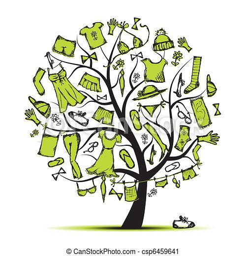 Garderobe clipart  Vektor Clipart von design, kleidungsbaum, garderobe, dein ...