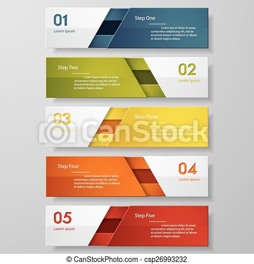 Design number banners template. - csp26993232