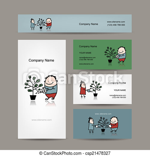 Design of business cards with money tree concept vector illustration design of business cards with money tree concept csp21478327 colourmoves