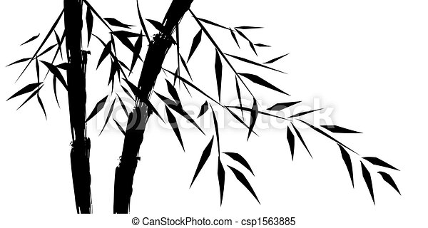 design of chinese bamboo trees - csp1563885
