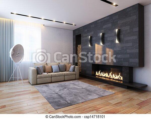 design of interior in minimalist st - csp14718101