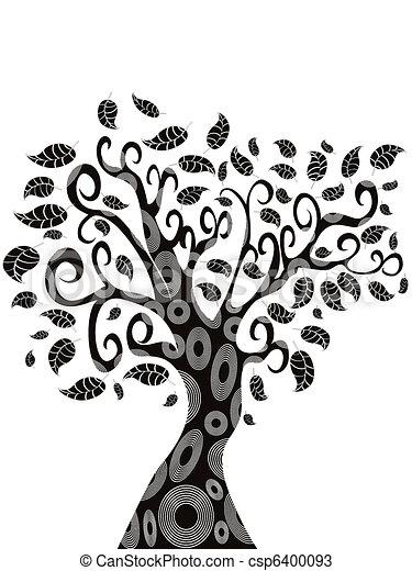 design of Tree silhouette  - csp6400093