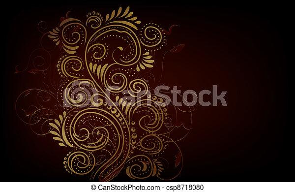Design ornate background - csp8718080