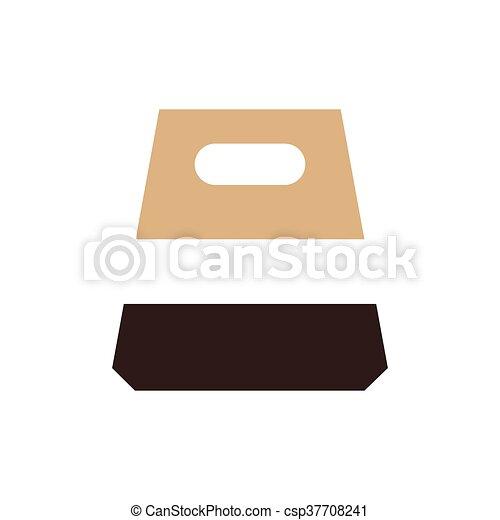 design paper bag icon brown color - csp37708241
