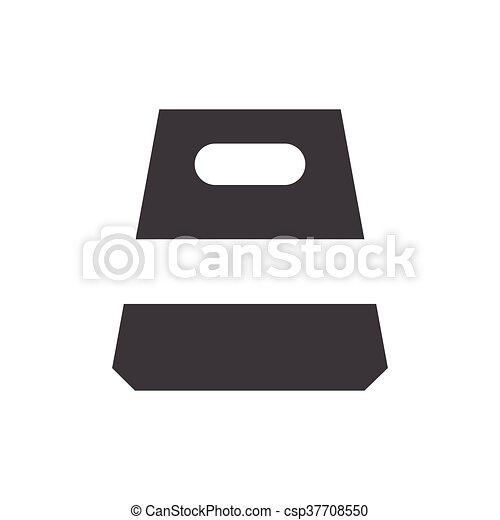 design paper bag icon - csp37708550